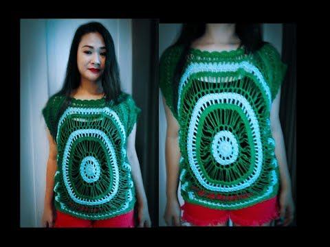 Xxx Mp4 เสื้อครอปถัก Green Crochet Blouse Part1 3gp Sex