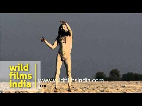 Varanasi Ghat shenanigans: sadhu doing naked yoga on banks of Ganga!
