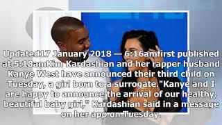 Kim Kardashian welcomes baby number three