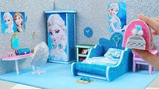 DIY Miniature Dollhouse Room ~ DIY Miniature Frozen Bedroom ~ Frozen Elsa Room Decor, Backpack