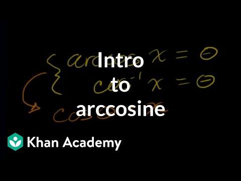Inverse trig functions: arccos | Trigonometry | Khan Academy