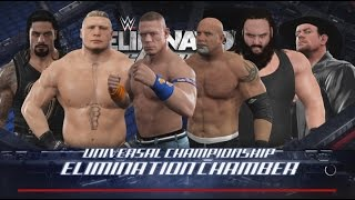WWE 2K17- WWE Universal Championship Elimination Chamber Match 2017 (PS4)