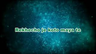 Karaoke Of Megher Pore By Tahsan