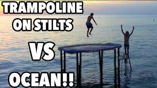 TRAMPOLINE VS OCEAN!!!
