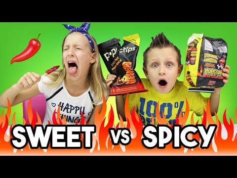SWEET vs SPICY CHALLENGE