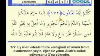 Kur'an-ı Kerim  Hatim sayfa 25
