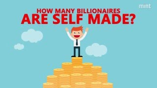 How many billionaires are self made?