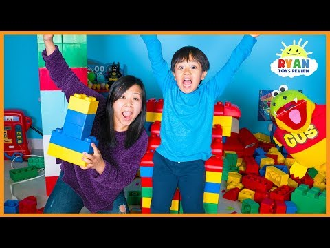 Xxx Mp4 Giant Lego Building Contest For Kids With Mommy And Ryan ToysReview 3gp Sex