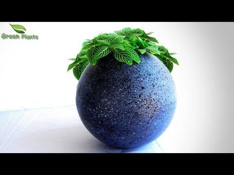 Modern Cement Ball Planter at Home Best Cement Tree pot Idea Easy Planter Ideas GREEN PLANTS