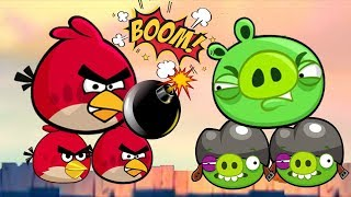 Boom Bad Piggies - RED BIRD BLOW ALL PIGGIES UP!
