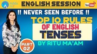 SBI PO/CLERK   Top 10 Rules Of English   Part 2   Ritu Sharma Ma'am