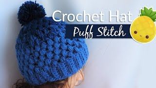 Download Gradient hat with puff stitch - Crochet / Gorrito en punto piña 3Gp Mp4