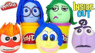 Opening Play Doh Disney Pixar Inside Out Movie Surprise Eggs - Disgust Anger Joy Sadness Fear