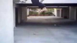 Back Flip off wall slow motion.3gp