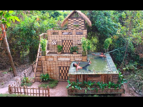 Xxx Mp4 Build Beautiful Swimming Pool Amp House Villa Using Wooden In Will 3gp Sex