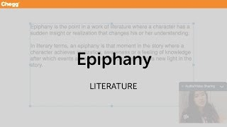 Epiphany | Literature | Chegg Tutors