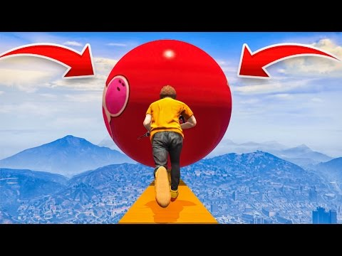 HUGE BOWLING BALL AVALANCHE GTA 5 Funny Moments