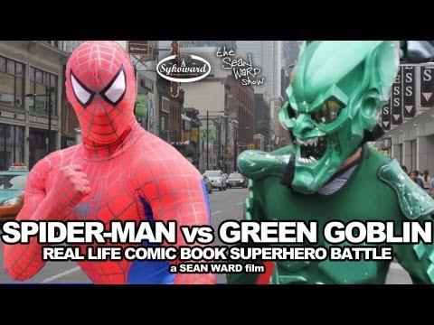 Spider Man VS Green Goblin Real Life Superhero Battle