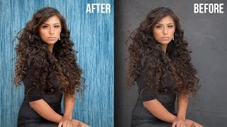 Smart Way to Quickly Mask Hair and Change Background in Photoshop Using Overlay