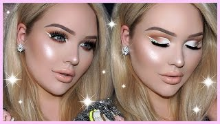PROM MAKEUP TUTORIAL - White Cut Crease & DIAMOND Eyeliner