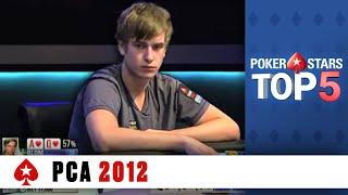 Top 5 Poker Moments - PCA 2012 | PokerStars.com