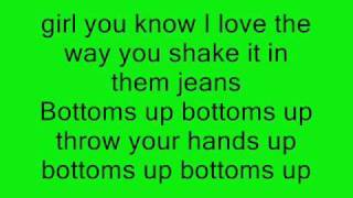 Trey Songz - Bottoms Up (Ft. Nicki Minaj) ON-SCREEN LYRICS