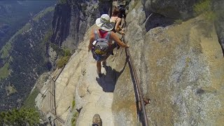 Yosemite Falls Trail - the SCARY part (2015)