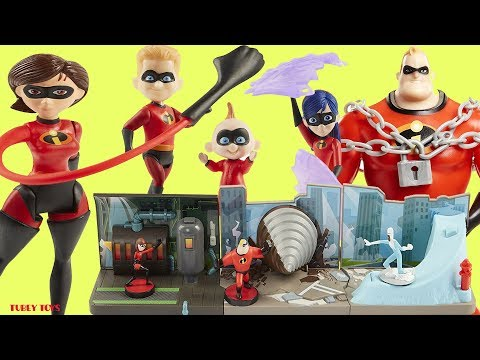 Incredibles 2 Movie Toys Huge Haul Poseable Action Figures Mini Playsets Jakks Pacific Tubey Toys