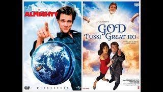 BRUCE ALMIGHTY(JIM CARREY) VS GOD TUSSI GREAT HO(SALMAN KHAN) SIMILAR SCENE IN HINDI