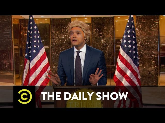 The Daily Show - President-Elect Trump Takes On the Crooked Media