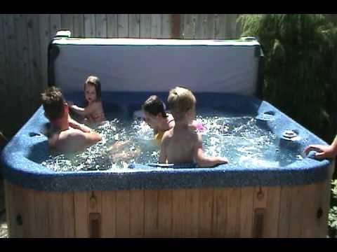 Family in a Hot Tub
