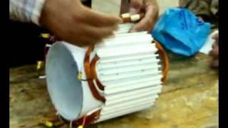نموذج لف المحرك الكهربائي يحاكي العضو الثابت للمحرك