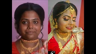 Traditional Bengali Bridal Makeup Tutorial For Dusky Beauty