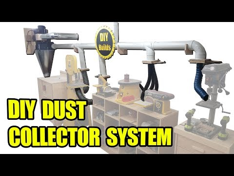 DIY Dust Collector System with Homemade Blast Gates and Automatic Start Stop Function