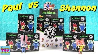 Paul vs Shannon | Disney Zootopia Funko Mystery Minis Edition Unboxing | PSToyReviews