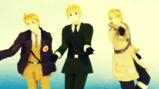 【MMD APH】WAVE 【モーション配布】