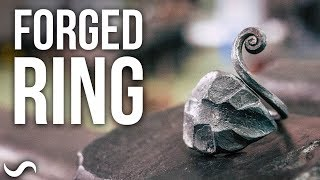 MAKING A FORGED STEEL RING!!!