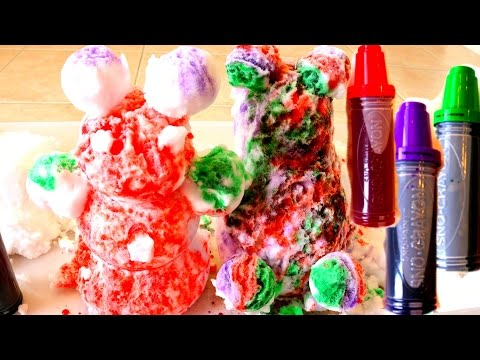Coloring Snow Figures with Snow Markers Rainbow Snow Balls B2cutecupcakes