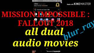 Download in bluray all dual audio movies  mission impossible:fallout2018    links in description