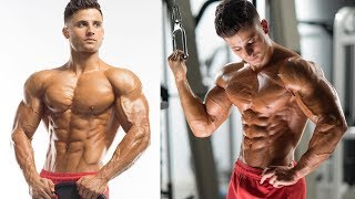 Shoulders exercises with hot gymer Dominick Nicolai - Gym fitness motivation