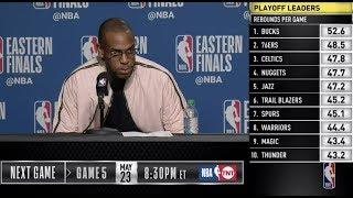 Khris Middleton Press Conference   Eastern Conference Finals Game 4