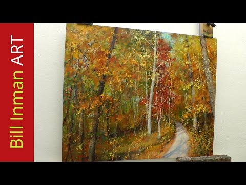 How to Paint Trees with Fall Leaves - 'Early One Morning' Oil Painting by Bill Inman