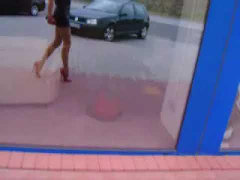 high heel walking