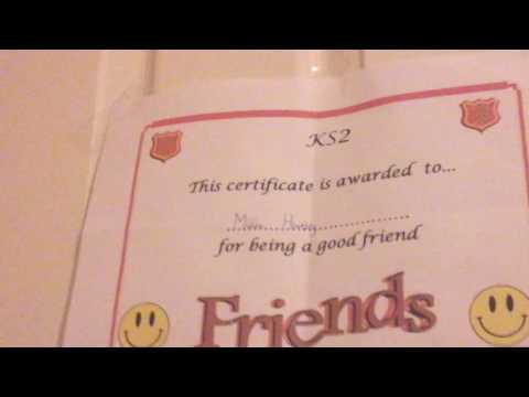 Millie certificates