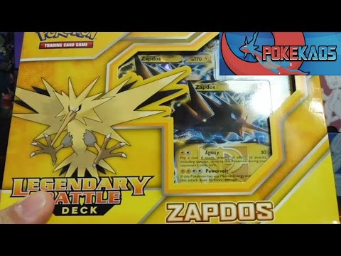 Pokemon Cards Opening The Zapdos EX Legendary Battle Deck