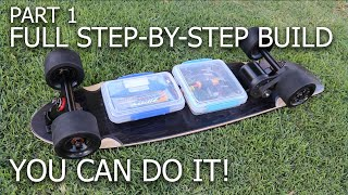 Electric Skateboard Build - Belt Drive | Weight ~11 lbs | Price < $300 | Speed > 23 mph