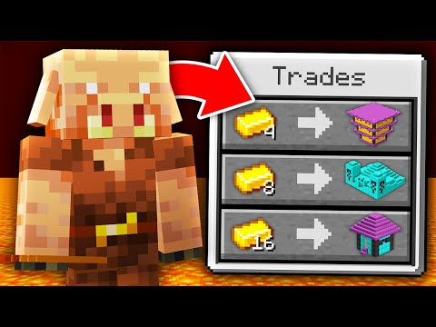 Minecraft But Piglins Trade Super Structures