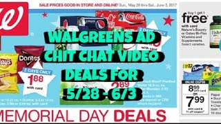 WALGREENS AD CHIT CHAT VIDEO:  DEALS FOR 5/28/17 - 6/3/17