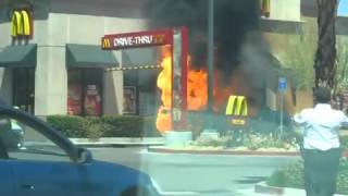 Vehicle Fire and Explosion at McDonalds drive-in