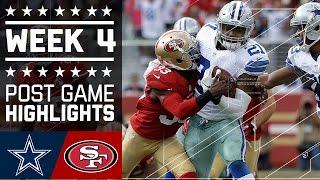 Cowboys vs. 49ers | NFL Week 4 Game Highlights